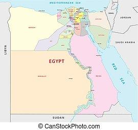 地図, 政治的である, 管理上, エジプト