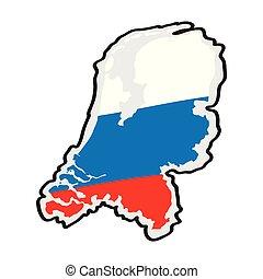 地図, 旗, netherlands, ∥そ∥