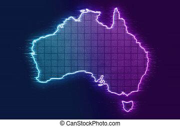 地図, 格子, オーストラリア