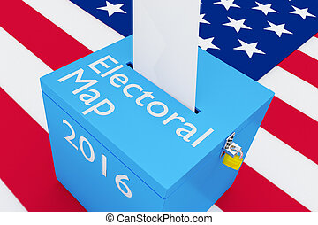 地図, 概念, 2016, 選挙, 選挙