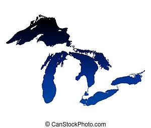 地図, 湖, 偉人