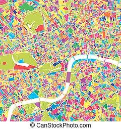 地図, 王国, ベクトル, ロンドン, 合併した, カラフルである