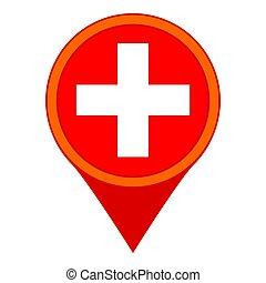 地図, 病院, 漫画, カラフルである, 印