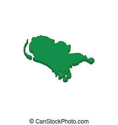 地図, 等大, netherlands, スタイル, アイコン, 3d