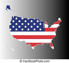 地図, 米国