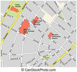 地図, 財政 地区, ヨーク, 新しい, 道