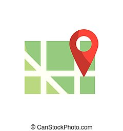 地図, 通り, gps, ポインター, ナビゲーション