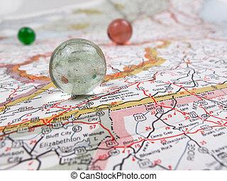地図, 道