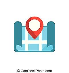 地図, 都市 通り, gps, ポインター, ナビゲーション