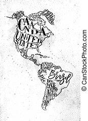 地図, aamerica, 型