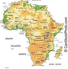 地図, africa-physical