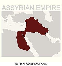 地図, assyrian, 帝国