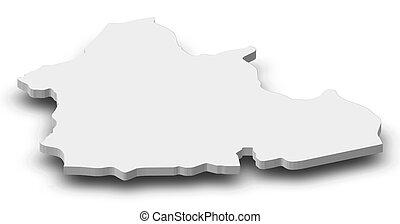 地図, -, (central, 3d-illustration, republic), アフリカ, nana-...