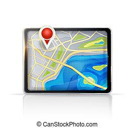 地図, gps