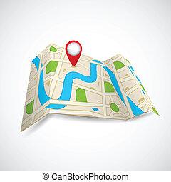 地図, gps, 道, 適用
