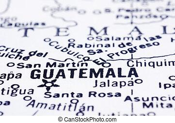 地図, guatemala, ぐっと近づいて