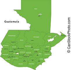 地図, guatemala, 緑