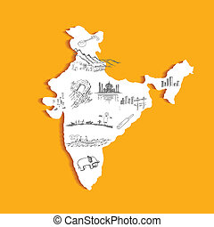 地図, indian