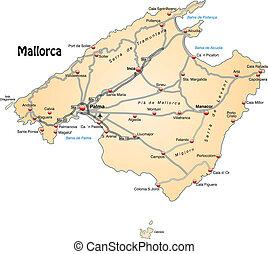 地図, mallorca