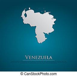 地図, natura, ペーパー, ベネズエラ, カード, 3d