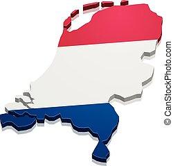 地図, netherlands