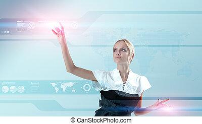 地図, series., 200+, interface., 事実上, 1(人・つ), 感動的である, 魅力的, ライト, 世界, ブロンド, 未来, flashes.