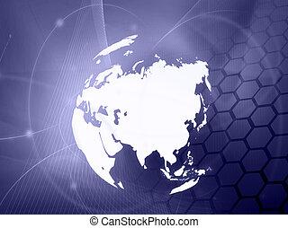 地図, technology-style, アジア, アートワーク