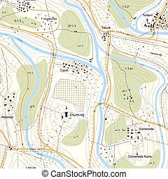 地図, territory., 地形である, seamless