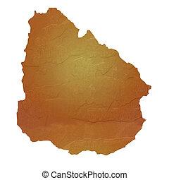 地図, textured, ウルグアイ