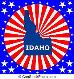 地図, u.。s.。, 州, アイダホ