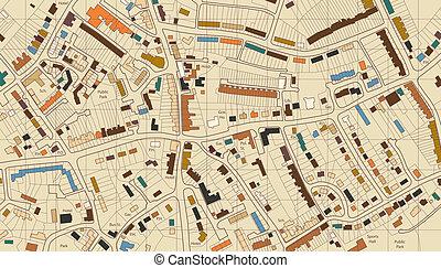 地图, 住房
