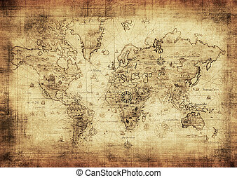 地图, 古代, 世界