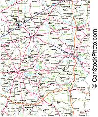 地图, 道路