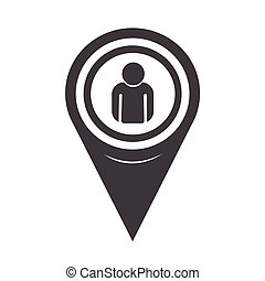 地圖, 人, 指針, 圖象