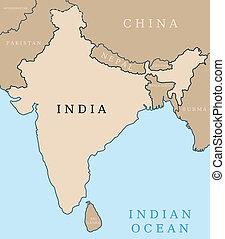 地圖, 印度