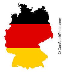 地圖, 旗, 德國
