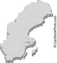 地圖, ......的, 瑞典