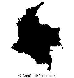 地圖, 美國, 哥倫比亞, 地區