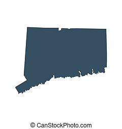 地圖, 美國, 康涅狄格, 狀態