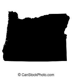 地圖, 美國, 狀態, 俄勒岡州