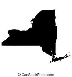 地圖, 美國, 狀態, 紐約