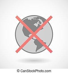地域, 割り当てられる, ない, 世界, アメリカ, 地球, アイコン
