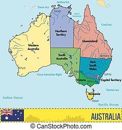地域, 地図, オーストラリア, 首都, ∥(彼・それ)ら∥