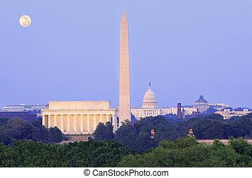 地平線, 華盛頓特區, 黃昏