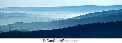 地平線, 霧が深い