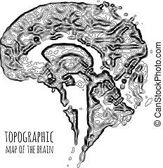 地形である, 技術, 形態, 移動, 現代, map., 脳, 概念, ∥間に∥, neurons., データ
