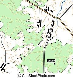 地形の地図, 背景, 概念, ∥で∥, 道, 森林, 和解, 救助, contours., 缶, ありなさい,...