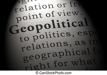 地政学である, 定義