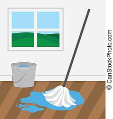 地板, 木制, 扫荡