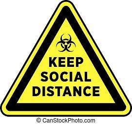 地板, sticker., 或者, distancing, signage, 社会